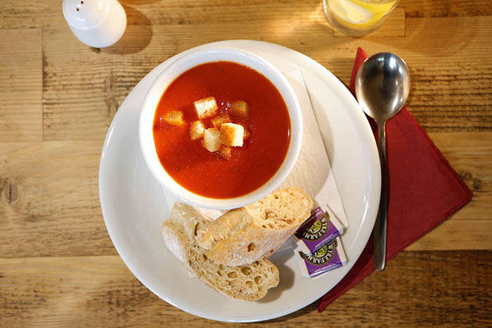 Soup of the day at Beechenhurst Cafe