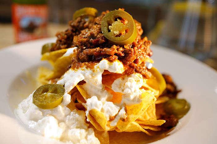 Chilli nachos at Beechenhurst Cafe