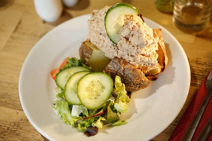 Tuna Jacket Potato at Beechenhurst Cafe